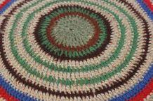 Coussin crochet vintage