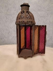 Lanterne photophore, style oriental, hauteur 28 centimètres