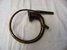 Ancien Klaxon voiture vélo à poire en cuivre