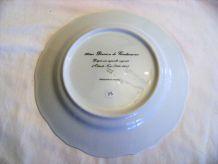 Assiette porcelaine de limoge bicentenaire hondsch