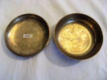 Bonbonnière ,vide poche artisanat indien en laiton