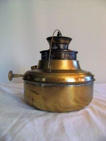 Chauffe plat vintage pétrole type sellus en laiton