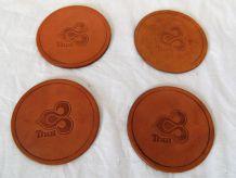 4-dessous-de-verre cuir Air Thaï