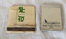 2 Paquets d'allumettes compagnie EL AL ISRAEL AIRL