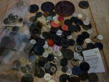 Lot de boutons couture