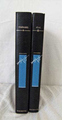 """Lot 2 volumes Axis """"Atlas"""" """"Itinéraires"""" Hachette"""