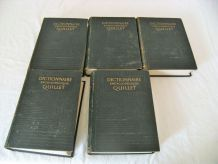 Lot de dictionnaires encyclopédiques QUILLET 1953