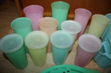 Lot Tupperware Vintage 70's Pastel