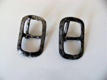 2 boucles ceintures/chaussures/sac anciennes