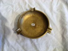 Cendrier laiton/bronze vintage classique