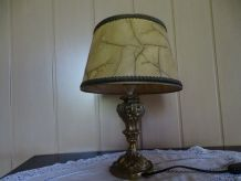Lampe pied bronze ancienne