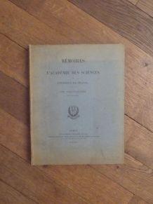 Memoires De L' Academie Des Sciences De Institut De France