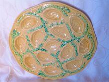 Plat à huîtres Orfinox/ Service à huîtres / Plat céramique .