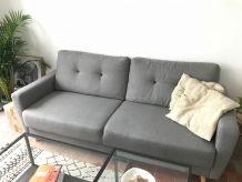 Canapé trois places gris anthracite