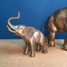 Éléphant en laiton