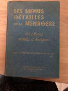 LES MENUS DETAILLES DE LA MENAGERE Ed 1937
