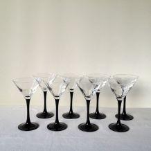 Lot de 8 coupes à champagne ou cocktail Luminarc