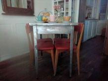 table industrielle  acier 1950