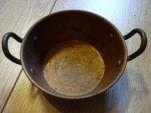 Mini marmite cuivre et laiton