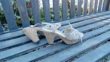 Chaussures compensées laniere nubuck - 39
