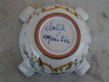 Cendrier/Mortier signé LALLIER Moustiers