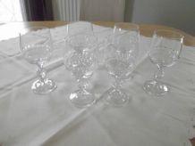 6 verres à vin en cristal