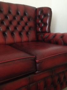 Canapé & fauteuil style Chesterfield