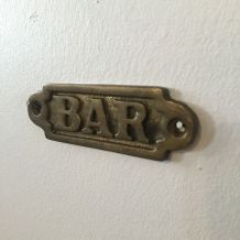 Plaque bar en laiton