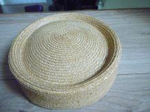Chapeau paille femme Vintage