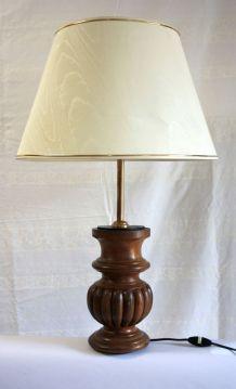 Lampe de table – pied en bois tourné XIXème