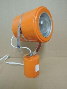 Lampe orange métal 70s