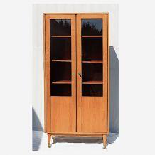 Armoire vitrée placage de teck - 1960