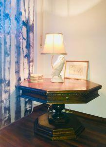 Table ancienne octogonale en acajou