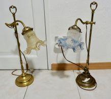 paire de lampe articulées avec tulipe