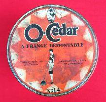 Jolie boite en tôle publicitaire O-Cedar