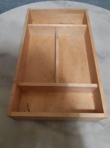 Casier de rangement en bois avec poignée