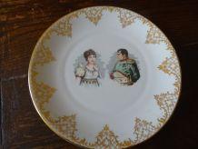 Assiette Napoléon et Joséphine