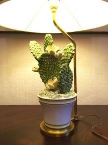 Lampe à poser cactus céramique