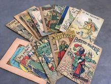 Lot de 13 petits revues/livres ancien