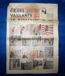 COEURS VAILLANTS N° 10 DU 06/03/1938 - LE STRATONEF H22