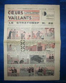 COEURS VAILLANTS N° 43 DU 24/10/1937 - LE STATONEF H22