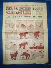 COEURS VAILLANTS N° 46 DU 14/11/1937 - LE STATONEF H22