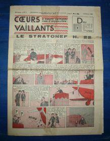 COEURS VAILLANTS N° 7 DU 13/02/1938 - LE STRATONEF H22