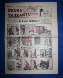 COEURS VAILLANTS N° 7 DU 14/02/1937 - LE RAYON DU MYSTERE