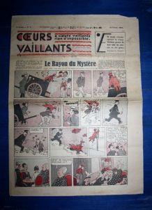 COEURS VAILLANTS N° 8 DU 21/02/1937 - LE RAYON DU MYSTERE