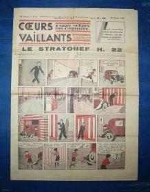 COEURS VAILLANTS N° 9 DU 27/02/1938 - LE STRATONEF H22