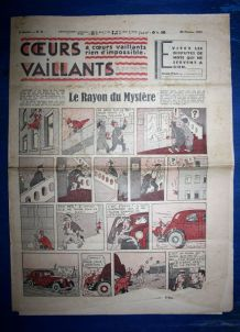 COEURS VAILLANTS N° 9 DU 28/02/1937 - LE RAYON DU MYSTERE