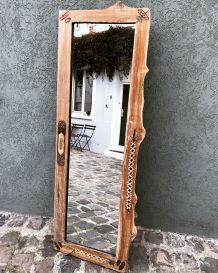 Miroir  ethnique naturel-brute