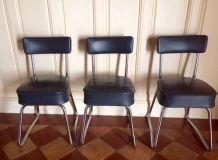 Série de trois chaises Pullmann