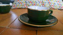 3 tasses et sous-tasses  Porcelaine Alpico Flora